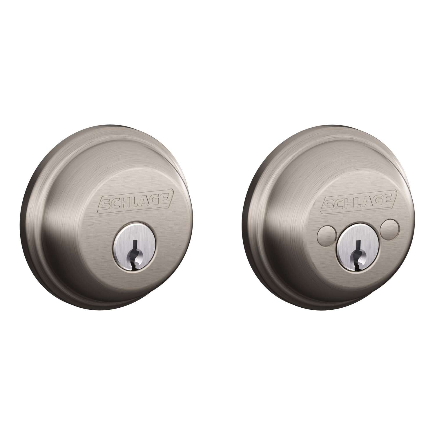 Schlage Satin Nickel Brass Double Cylinder Deadbolt