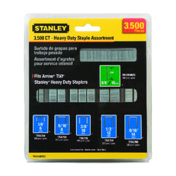Stanley  18 Ga. Narrow Crown  Heavy Duty Staples  3500 pk