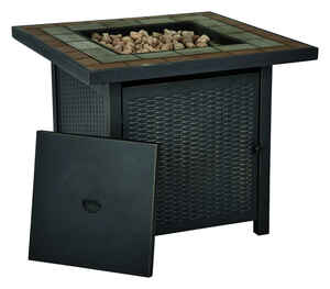 Living Accents  Square  Propane  Fire Pit  30 in. W x 30 in. D x 25 in. H Steel