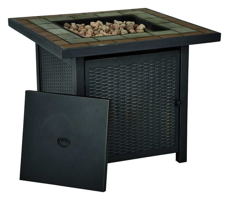 Living Accents Square Propane Fire Pit 25 in. H x 30 in. W x - Living Accents Square Propane Fire Pit 25 In. H X 30 In. W X 30 In