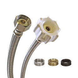 Fluidmaster  Click Seal  7/8 in. Dia. Ballcock  12 in. Braided Stainless Steel  Toilet Supply Line
