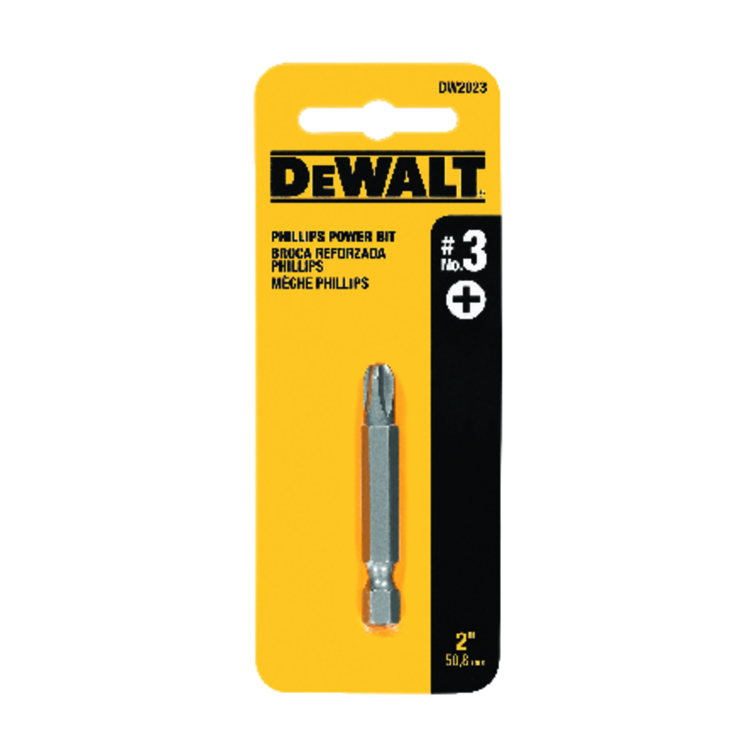DeWalt  #3 in.  x 2 in. L 1/4 in. 1 pc. Heat-Treated Steel  Phillips  Screwdriver Bit