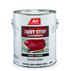 Ace  Rust Stop  Indoor and Outdoor  Satin  White  Rust Prevention Paint  1 gal.