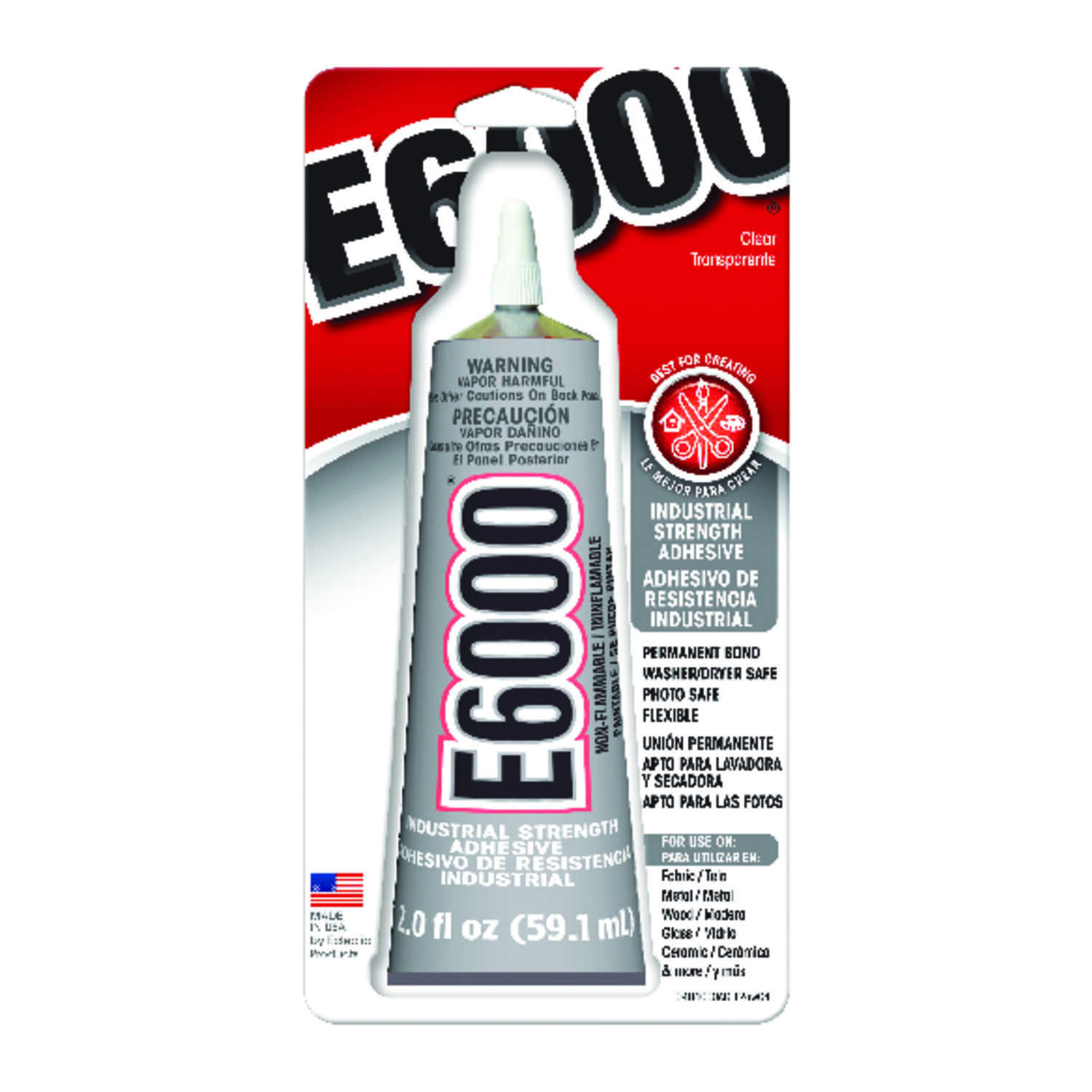 E-6000  High Strength  Liquid  All-Purpose Adhesive  2 oz.