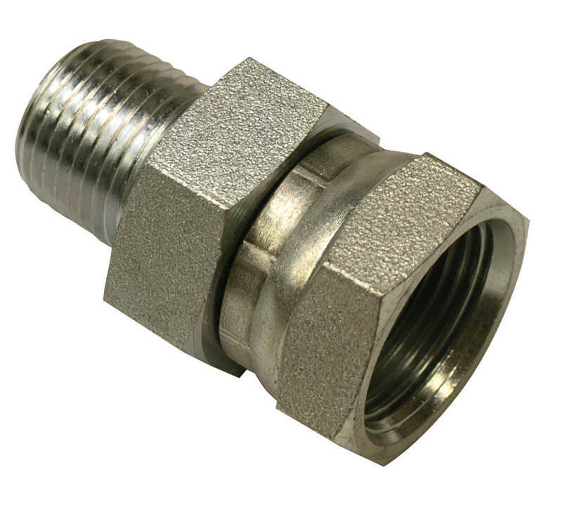 Universal  Steel  Hydraulic Adapter  1/2 in. Dia. x 3/4 in. Dia. 1