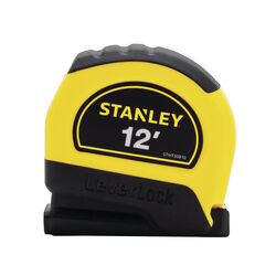 Stanley LeverLock 12 ft. L x 0.5 in. W Tape Measure 1 pk