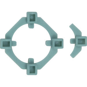 QEP  Bulls-Eye  1.5 in. H x 1.5 in. W x 0.5 in. L Plastic  Tile Spacer  100 pk