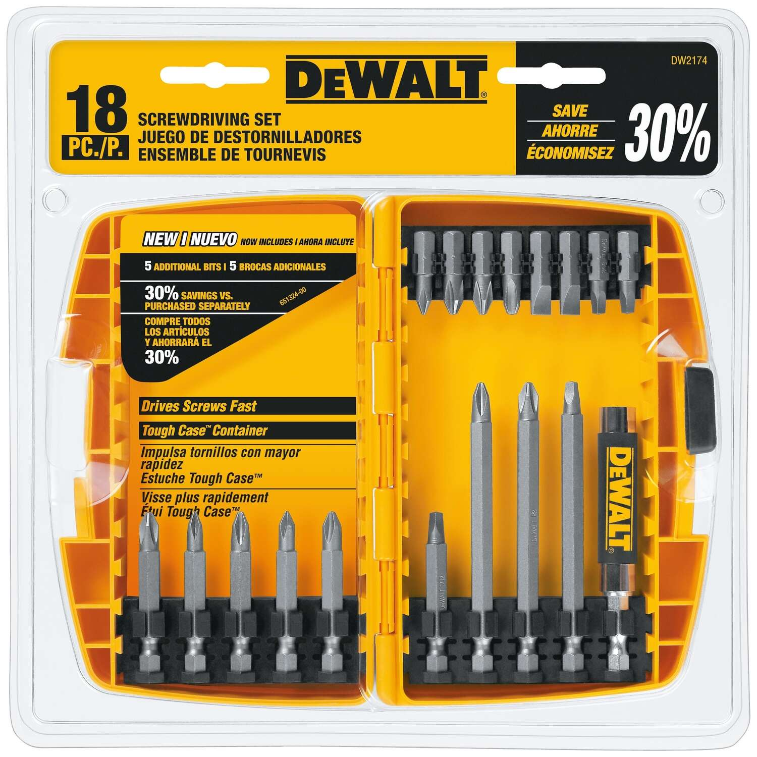 DeWalt Multi Size in. Screwdriver Bit 18 pc.