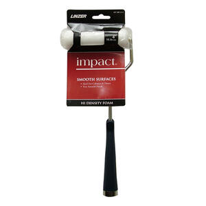 Linzer  Impact  4 in. W Mini  Paint Roller Frame and Cover  Threaded End