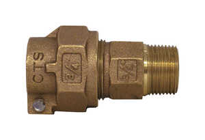 Legend  3/4 in. Dia. x 3/4 in. Dia. MNPT To PACK JOINT  Bronze  Pack Joint Coupling