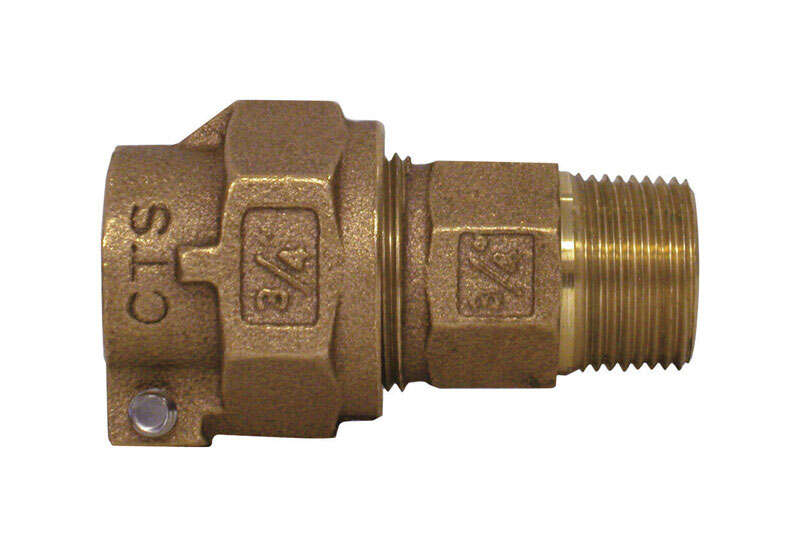 Legend  3/4 in. MPT   x 3/4 in. Dia. Pack Joint  Bronze  Coupling