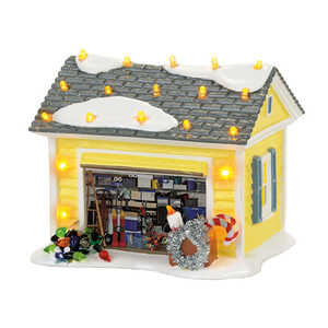 Department 56  Christmas Vacation  Griswold Garage  Village Building  Multicolored  1 pk Ceramic