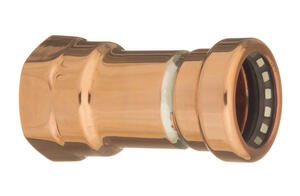 CopperLoc  Push to Connect 3/4 in. Push   x 3/4 in. Dia. Female  Copper  Pipe Adapter