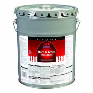 Ace  Gloss  White  Oil-Based  Barn and Fence Paint  5 gal.