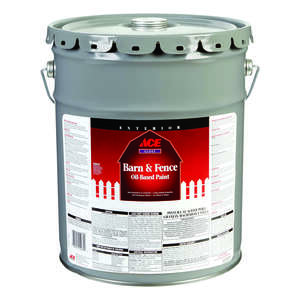 Ace  Gloss  White  Barn and Fence Paint  5 gal. Oil-Based