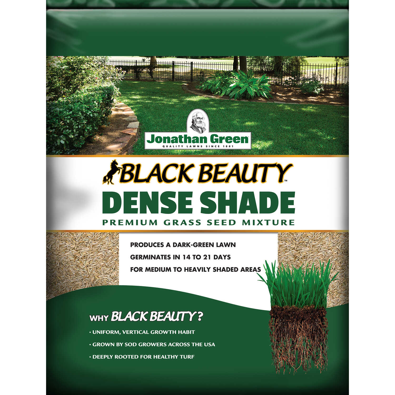 Jonathan Green  Black Beauty Dense Shade  Mixed  Grass Seed  3 lb.