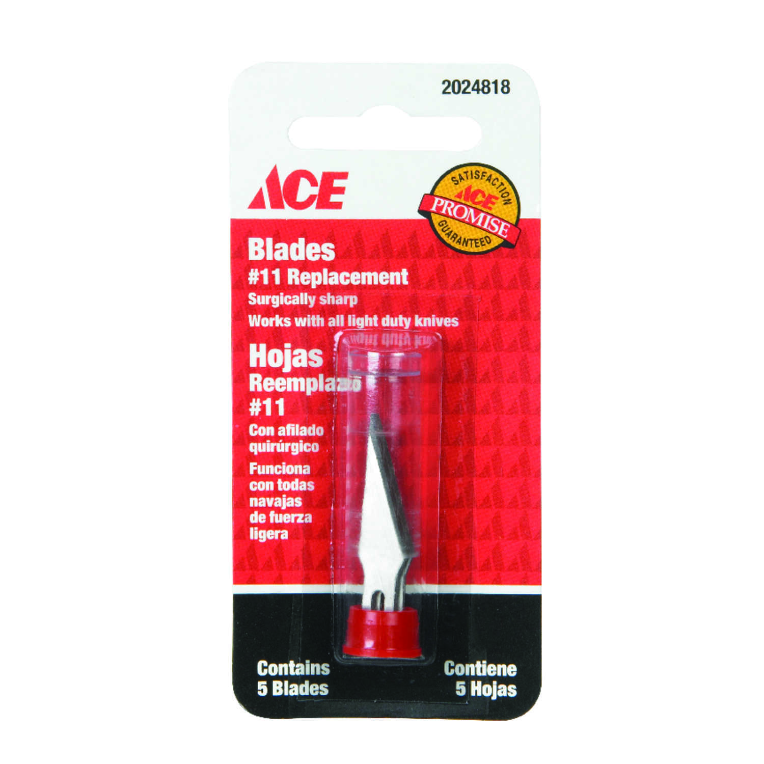 Ace  Fixed Blade  Hobby Knife Replacement Blades  Silver  1 pc.