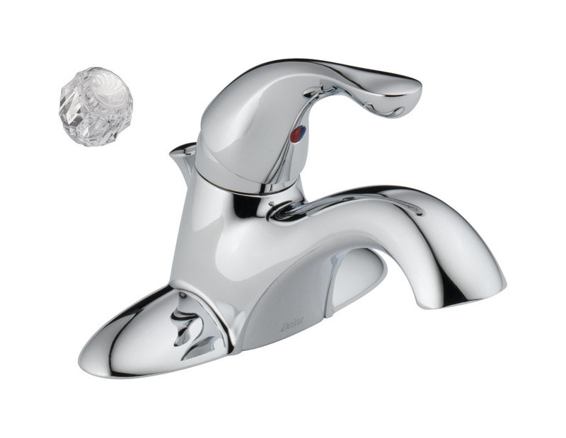 Delta  Classic  Single Handle  Lavatory Faucet  4 in. Chrome