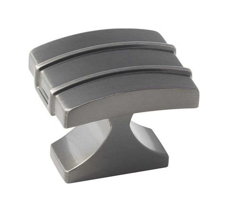 Amerock  1-1/2 in. L x 1-1/2 in. Dia. Davenport Collection  Knob  Gunmetal  1 pk 1-3/8 in.