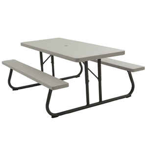 Lifetime  Steel  Gray  29 in. Foldable Picnic Table
