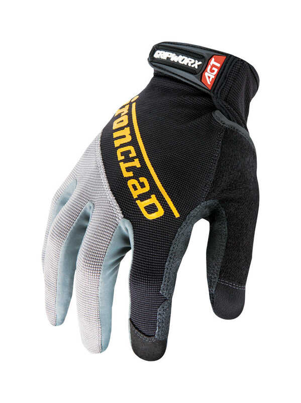 Ironclad  Men's  Silicone-Fused  Work  Gloves  Black  Extra Large