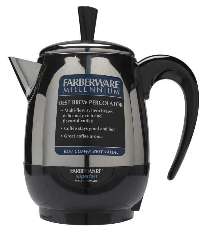 Farberware  4 cups Black  Percolator
