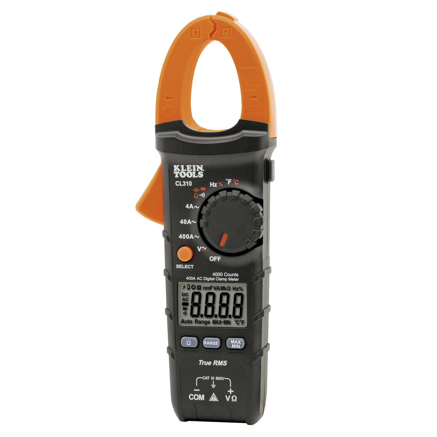Klein Tools  Automatic  LCD  Clamp Meter  1 pk