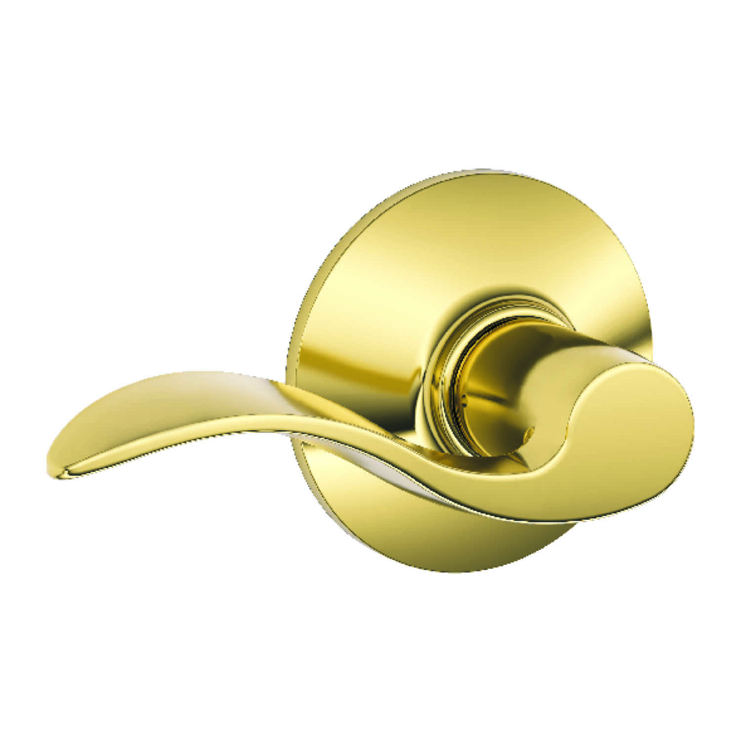 Schlage  Accent  Bright Brass  Steel  Passage Lockset  ANSI Grade 2  1-3/4 in.