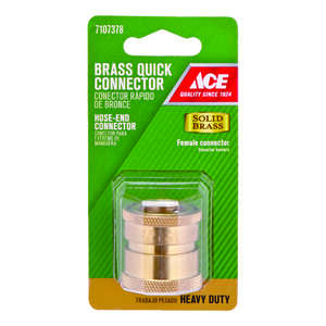Ace  3/4 in. Brass  Threaded  Female  Quick Connector Coupling