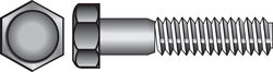 Hillman  3/8 in. Dia. x 4 in. L Zinc Plated  Steel  Hex Bolt  50 pk