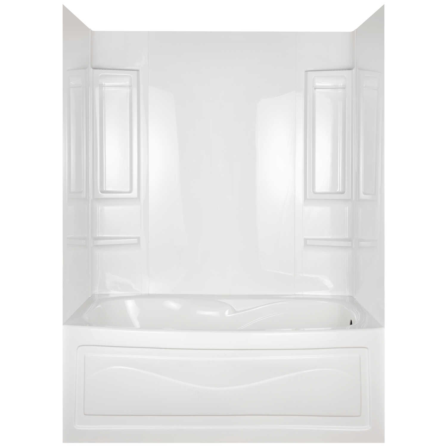 ASB  Vantage  60 in. H x 60 in. W x 27.5 in. L White  Five Piece  Right  Rectangle  Bathtub Wall