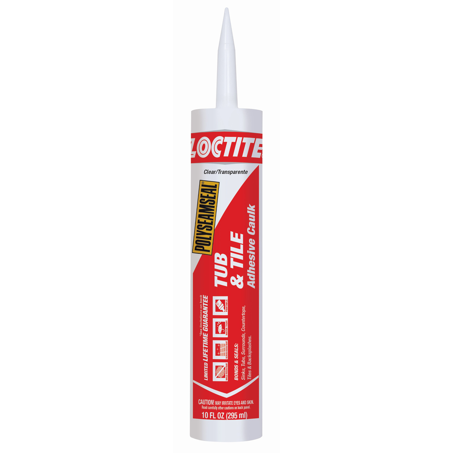 Loctite  Polyseamseal  Acrylic Latex  Clear  10 oz. Adhesive Caulk
