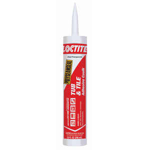 Loctite  Polyseamseal  Clear  Acrylic Latex  Adhesive Caulk  10 oz.