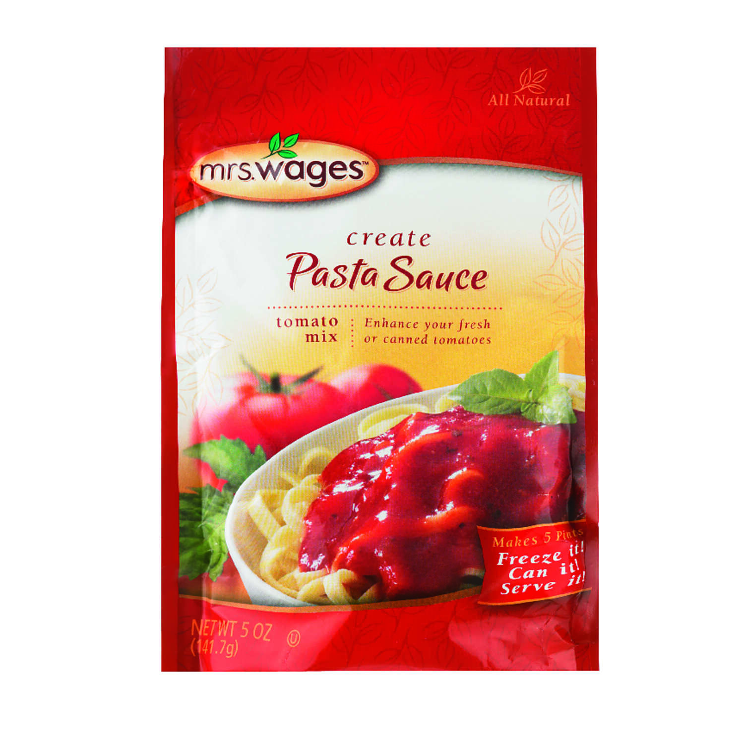Mrs. Wages  Pasta Sauce Tomato Mix  5 oz. 1 pk