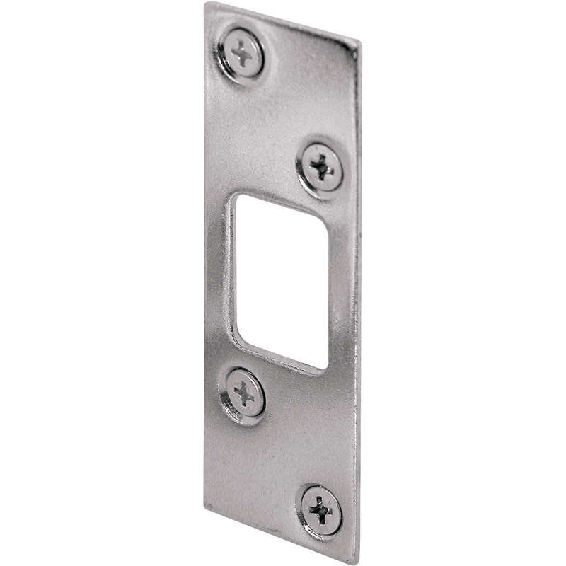Prime-Line  3.625 in. H x 1.25 in. L Nickel  Steel  High Security Deadbolt Strike