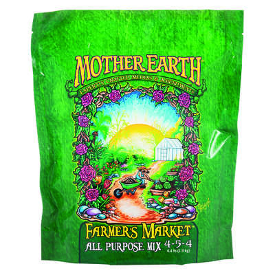 Mother Earth  Farmers Market All Purpose Mix 4-5-4  Hydroponic Plant Nutrients  4.4 lb.