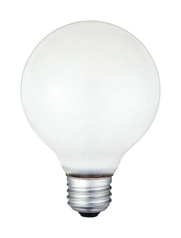 Westinghouse  40 watts G25  Globe  Incandescent Bulb  E26 (Medium)  White  12 pk