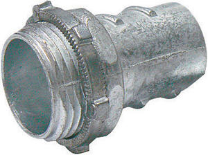 Sigma Electric ProConnex  1/2 in. Dia. Die-Cast Zinc  Screw-In Connector  For FMC 1 pk