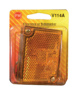 Peterson  Amber  Square  Clearance/Side Marker  Light