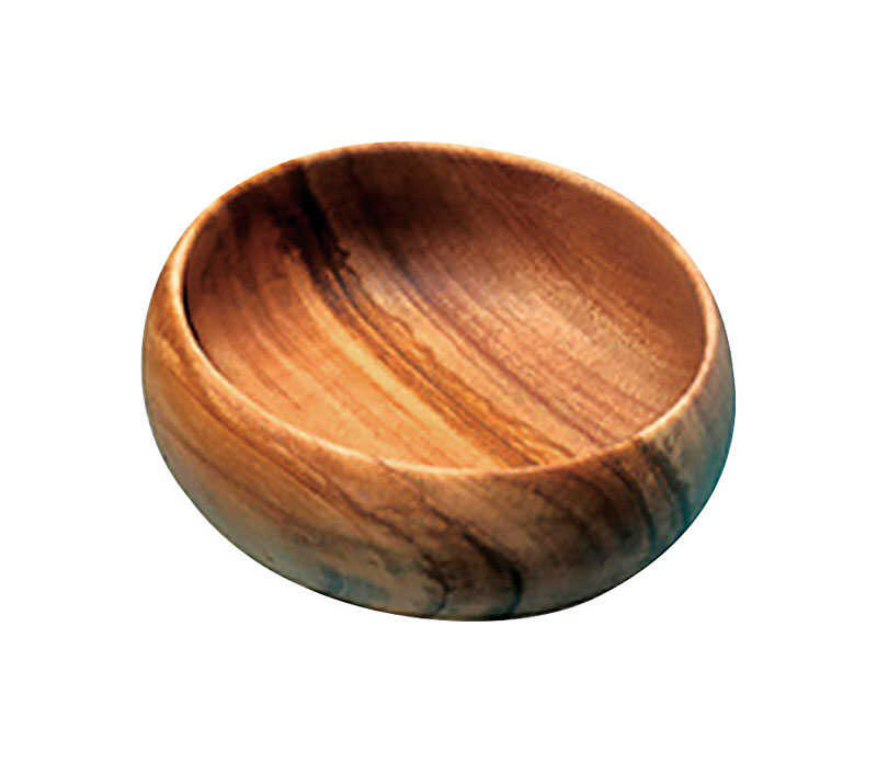 Pacific Merchants  4 in. Brown  Acacia Wood  Serving Bowl  1 pk