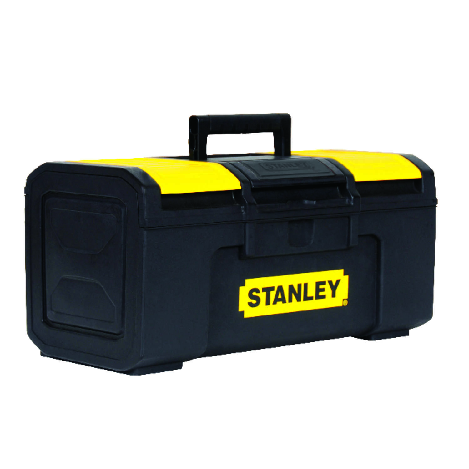 Stanley  23 in. Plastic  Tool Box  11 in. W x 10 in. H Black