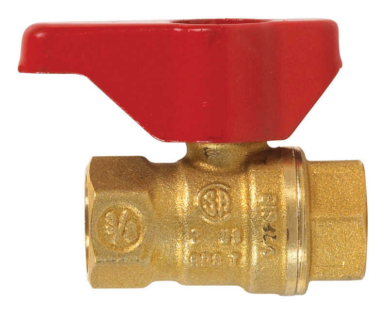 B & K  Gas Ball Valve  3/8 in. FPT   x 3/8 in. Dia. FPT  Brass  Two Piece