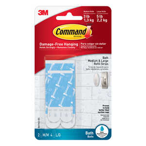 3M  Command  Assorted  Foam  3-3/8 in. L 6 pk Adhesive Strips