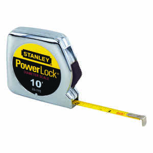 Stanley  PowerLock  10 ft. L x 0.25 in. W Tape Measure  1 pk Yellow