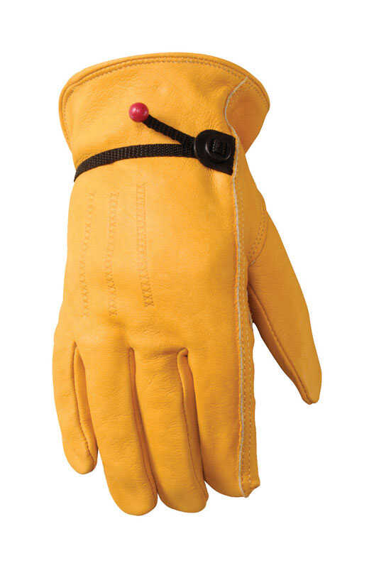 Wells Lamont  XXL  Leather  Driver  Gold  Gloves