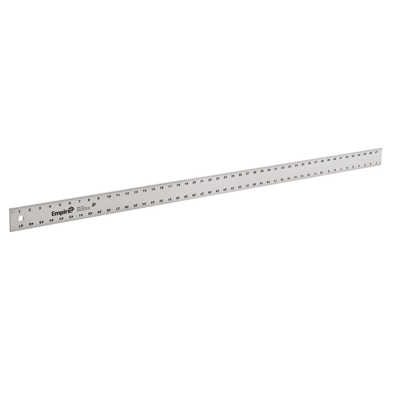 Empire  48 in. L x 2 in. W Aluminum  Heavy-Duty  Straight-Edge Ruler  SAE