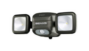 Mr. Beams  NetBright  Motion-Sensing  Black  Battery Powered  Plastic  Spotlight