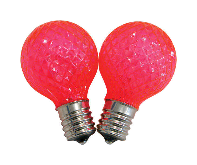 Celebrations  LED  G40  Replacement Bulb  Pink  25 pk