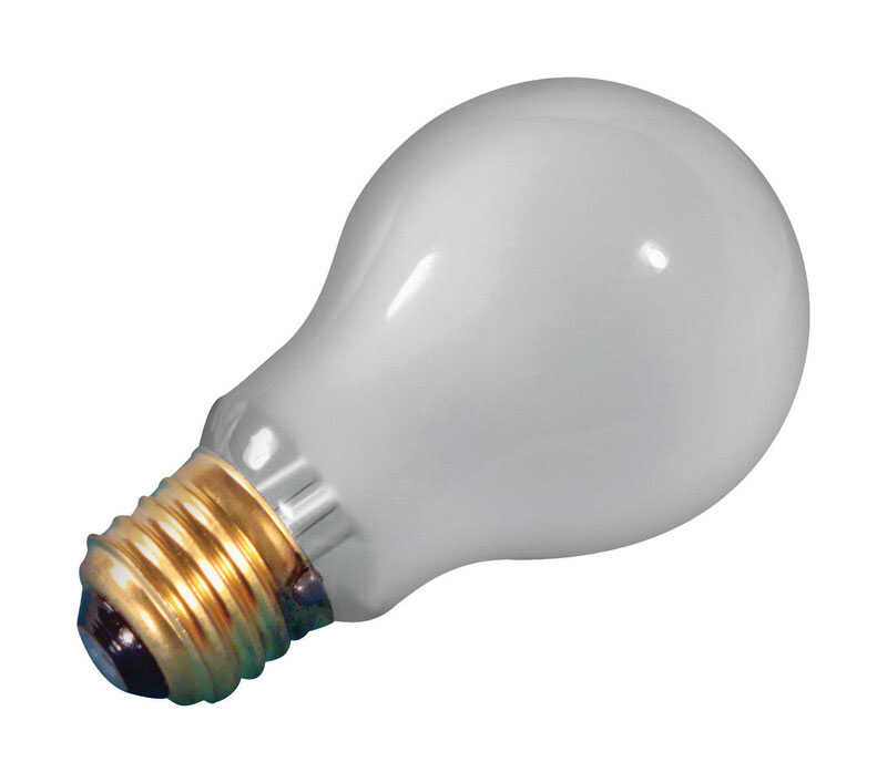 USH  25 watts A19  Incandescent Bulb  White  Appliance  1 pk