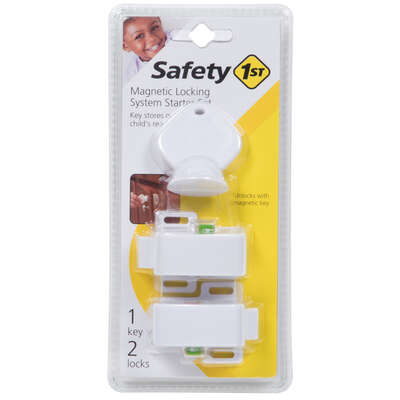 Safety 1st SecureTech White Plastic Magnetic Cabinet Locks 1 pk